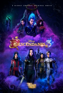 DESCENDANTS 3 - This highly anticipated trequel continues the contemporary saga of good versus evil as the teenage daughters and sons of Disney's most infamous villains-Mal, Evie, Carlos and Jay (also known as the villain kids or VKs)-return to the Isle of the Lost to recruit a new batch of villainous offspring to join them at Auradon Prep. When a barrier breach jeopardizes the safety of Auradon during their departure off the Isle, Mal resolves to permanently close the barrier, fearing that nemeses Uma and Hades will wreak vengeance on the kingdom. Despite her decision, an unfathomable dark force threatens the people of Auradon and it's up to Mal and the VKs to save everyone in their most epic battle yet. (Disney Channel)